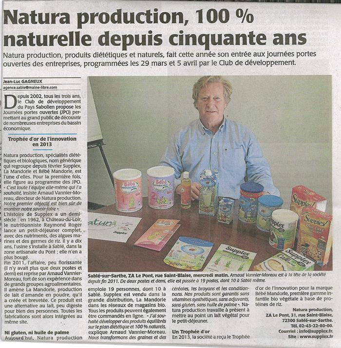 NaturaProduction, 100% naturelle depuis 50 ans