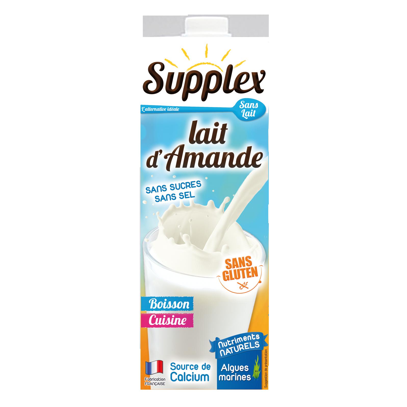Lait d'Amande Supplex - SANS LAIT / SANS GLUTEN
