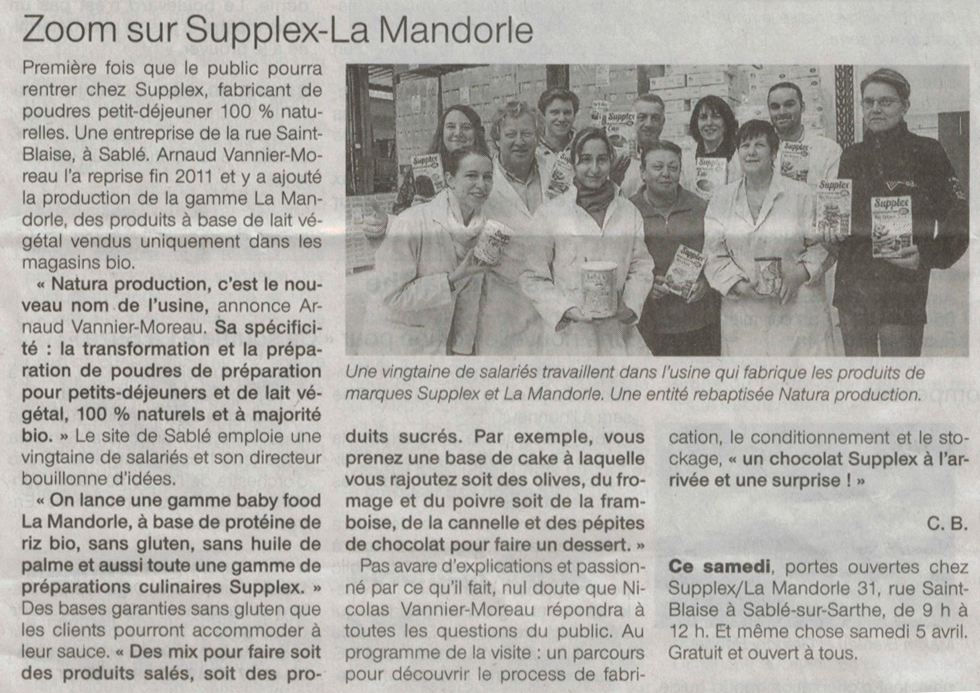 Zoom sur Supplex - La Mandorle