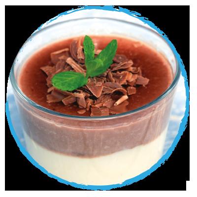 Flan Vanille Cacao Supplex Sans Lait ni Gluten